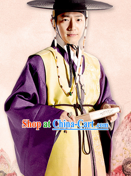 Korean Traditional Palace Official Male Costumes