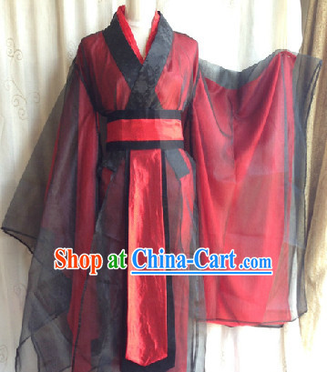 Black and Red Classical Hanfu Costumes for Men