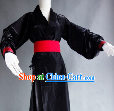 Black Classical Chinese Night Costumes for Men