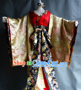 Japanese Stage Performance Kimono Costumes for Girls