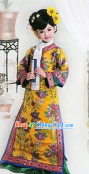 Ancient Chinese Princess Clothing and Headwear Complete Set for Kids