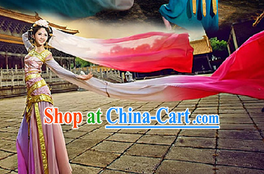 Long Sleeves Classical Dancing Costumes Complete Set