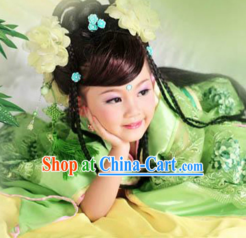 Ancient Royal Family Cute Kids Clothes and Headwear Complete Set