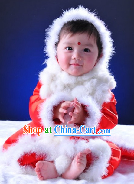 Chinese Traditional Baby Princess Winter Cape Clothing