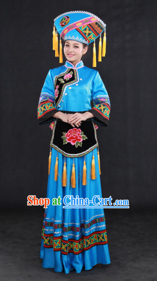Zhuang Ethnic Minority Clothing Complete Set