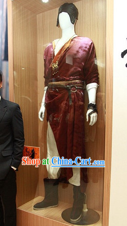 Chinese Kung Fu Boy Traditional Dresses and Hat