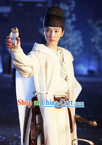 White Dramatic Style Official Costumes and Hat Complete Set