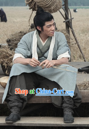 Ancient Chinese Male Civilian Dresses Complete Set for Men