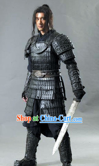 Black Solider Armor Costumes and Helmet Complete Set