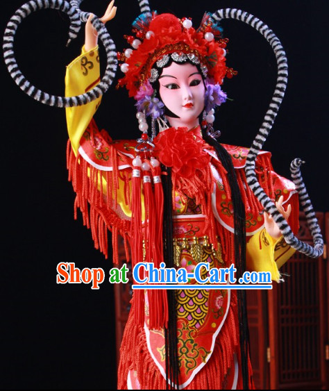 Handmade Traditional Chinese Silk Figurine - Shuangyang Princess