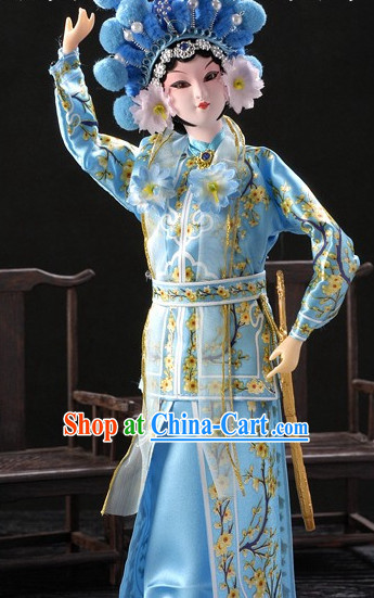 Handmade Traditional Chinese Silk Figurine - Xiao Qing Fairy
