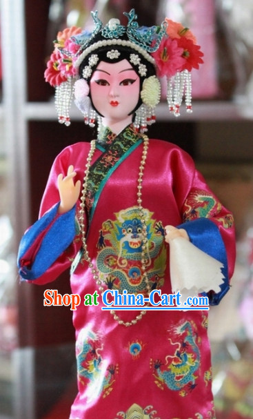 Handmade Traditional China Beijing Silk Figurine - Xiao Taihou Empress
