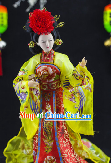 Handmade Traditional China Beijing Silk Figurine - Yang Yuhuan Empress