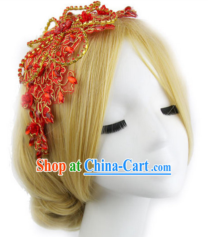 Romantic Chinese Traditional Red Headpieces