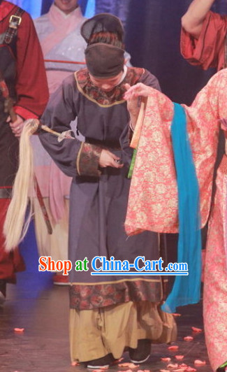 Ancient Chinese Imperial Palace Servant Costumes and Hat Complete Set