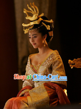 Ancient Four Beauties Yang Guifei Costumes and Wig Complete Set
