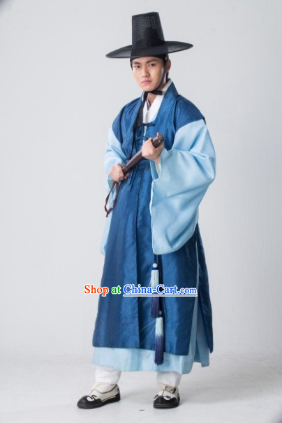 Ancient Korean Royal Family Person Costumes and Hat Complete Set