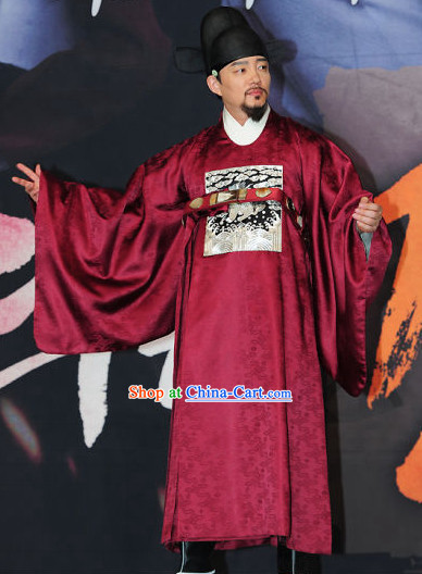 Ancient Korean Official Costumes Complete Set for Men