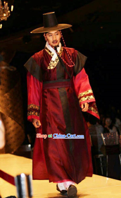 Korean Traditional Royal Family Man Clothes and Hat
