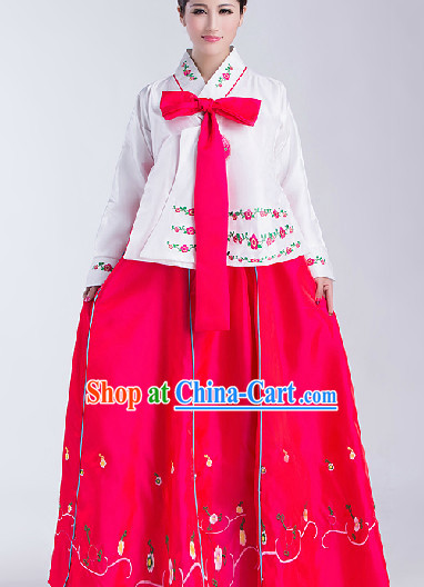 Big Festival Celebration Stage Chaoxian Dancing Costumes for Girls