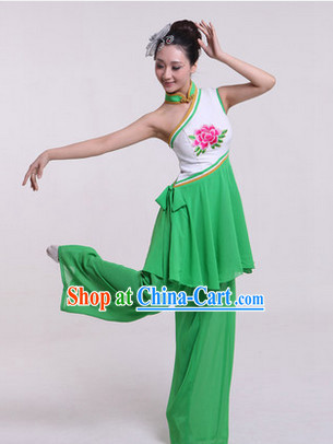 Enchanting Effect Traditional Folk Dancing Costume and Headwear Complete Set for Girls