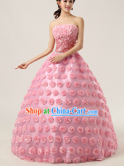 93f8cf704fc Enchanting Effect Romantic Wedding Dresses and Headwear Complete Set for  Women