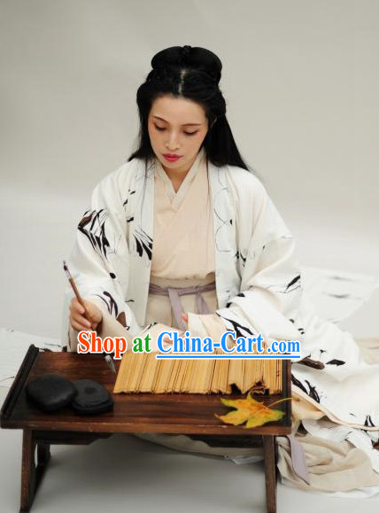 Tang Dynasty Traditional Female Poet Dresses for Women