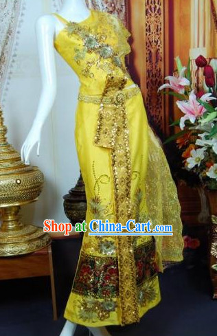 Burma Traditional Wedding Dresses Complete Set for Brides