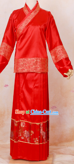Made-to measure Ancient Chinese Wedding Outfit for Bridegrooms