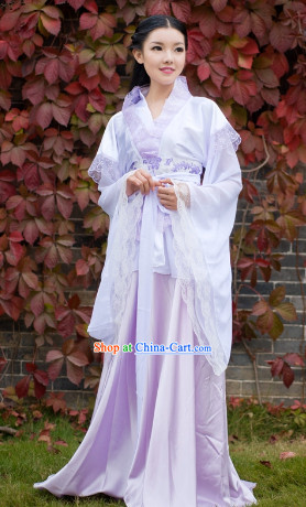 Traditional Chinese Lace Hanfu Suit for Girls