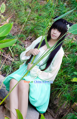 Asian Princess Swordswoman Costumes Complete Set