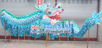 Blue Color Handmade China Chongqing Dragon Dancing Costumes Complete Set