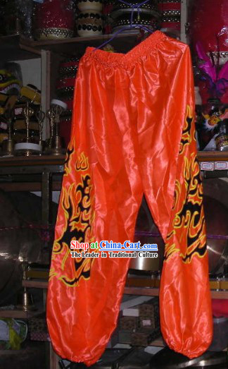 Orange Professional Competiton and Performance Dragon Dancer and Lion Dance Pants