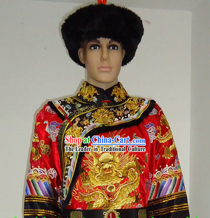 Imperial Palace Royal Family Member Chieftain Wedding Dress and Hat for Men