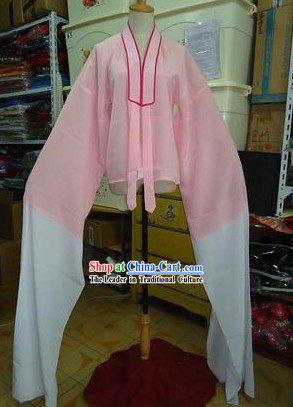 Traditional Chinese Pink and White Long Sleeves