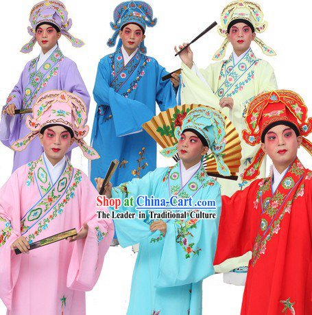 Jiang Nan Four Gifted Scholars Xiao Sheng Young Men Embroidered Clothes and Hat