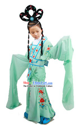 Lin Daiyu Hua Dan Chinese Dance Costumes and Wig for Children