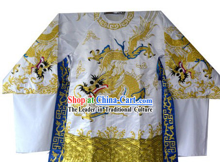 Traditional Chinese Embroidered Dragon Robe