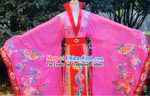 Traditional Chinese Stage Performance Empress Embroidered Clothing