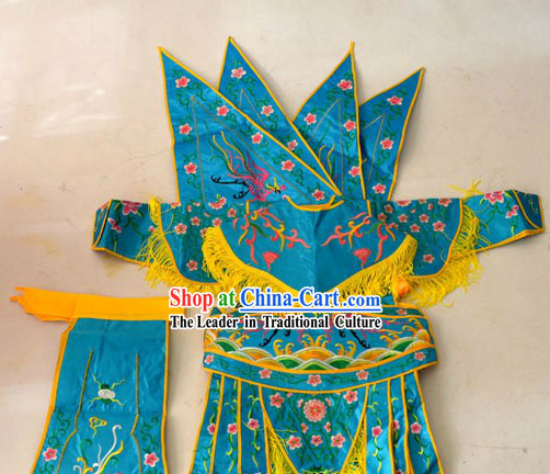 Traditional Chinese Peking Opera Da Kao Armor Costumes for Kids