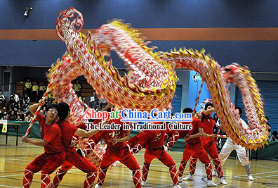 High School Students Illuminated Dragon Dance Equipment Complete Set