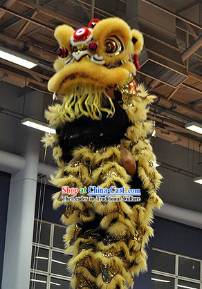 Powerful Professional Competition and Display Lion Dance Head and Costume Complete Set