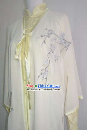Embroidered Plum Blossom Tai Chi Competition Championships Costumes Complete Set