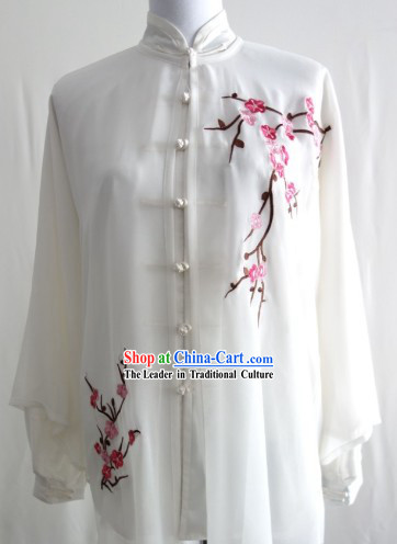 Top Embroidered Plum Blossom Tai Chi Dresses Three Pieces Complete Set