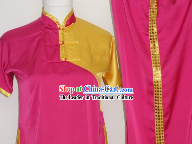 Top Chinese Traditional Silk Dragon Dancer Kung Fu Uniform for Junior Students Children