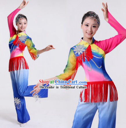 Chorus Dance Group Dance Singing Group Performance Costumes and Headwear Complete Set for Women