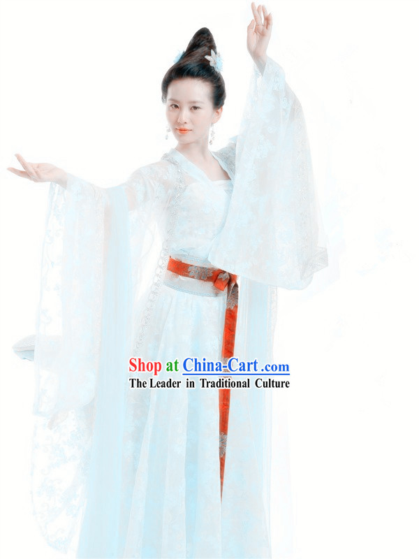 Ancient Chinese Xuan Yuan Sword TV Drama Yu Er Costumes Complete Set