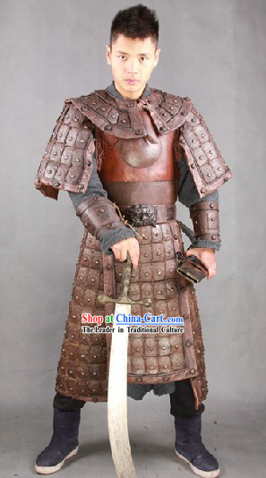 afac0cd56 Ancient Chinese Armor Costume and Helmet for Men