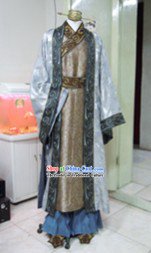 Ancient Chinese Male Costumes and Headwear Complete Set for Men