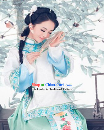 Qing Dynasty Female Beauty Clothes Complete Set for Women